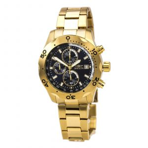 Invicta 17751 Men's Specialty Blue Dial Gold Plated Steel Chrono Watch